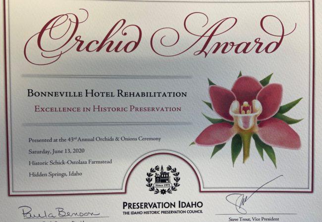 Bonneville Hotel Award
